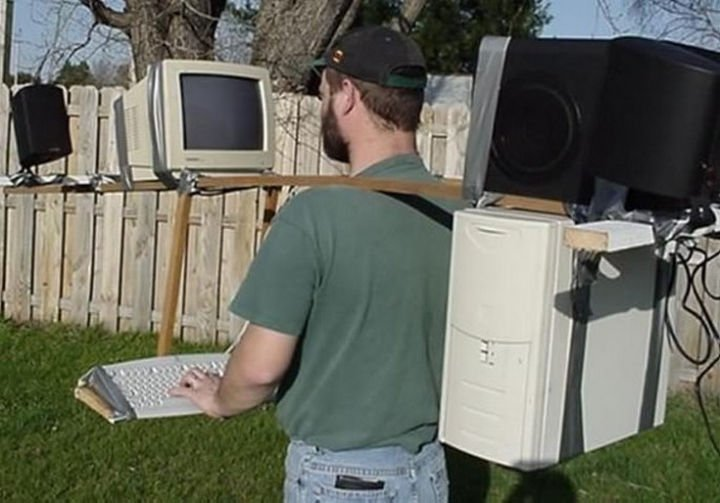 51 Crazy Life Hacks - Who needs a treadmill desk when you can bring your work outside?