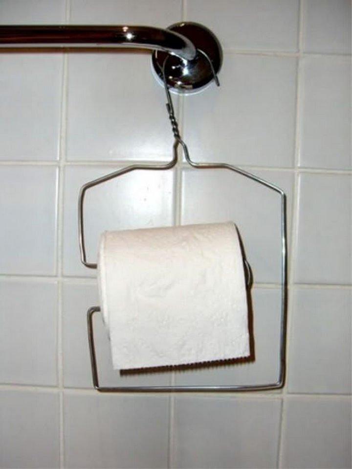 51 Crazy Life Hacks - Cheap and economical DIY toilet roll dispenser.