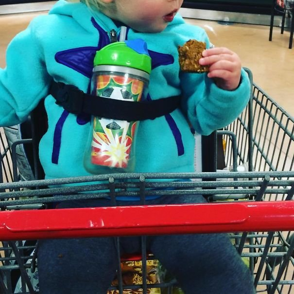 Use Shopping Cart Restraints To Secure Your Toddler