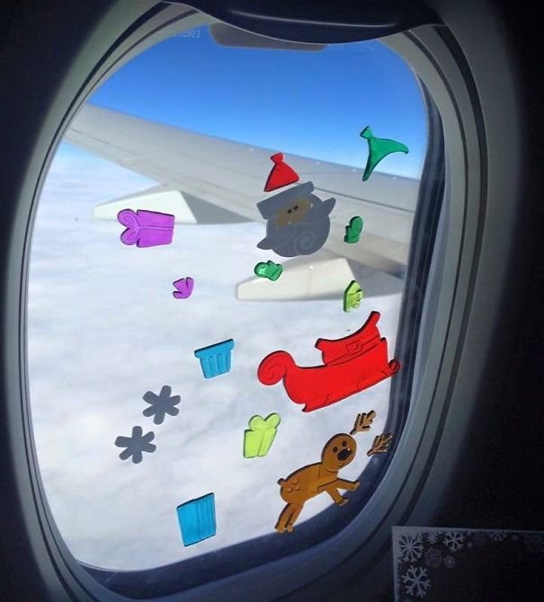 My Toddler Was Busy For Over 30 Minutes Playing With These Window Stickers On The Plane. Easy To Pack, Fun For Them, And Cheap!
