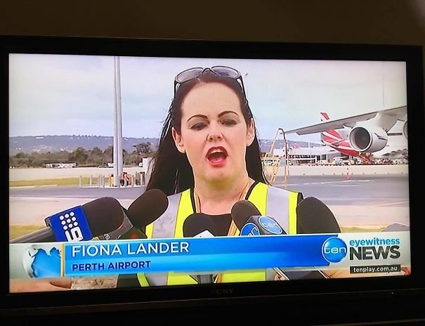Fiona Lander In Perth Airport