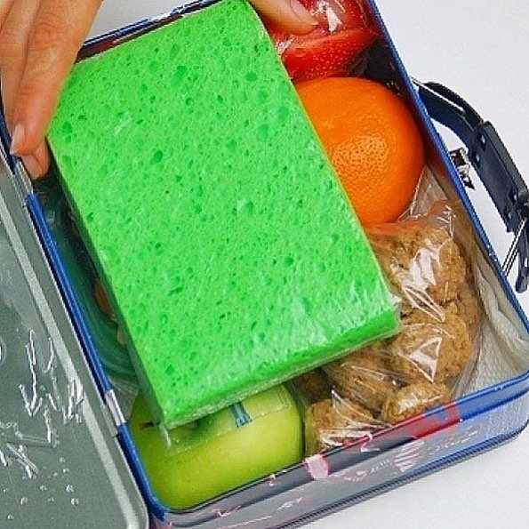 A Frozen Sponge In A Ziplock Is The Perfect Way To Keep Kids Lunches Cold