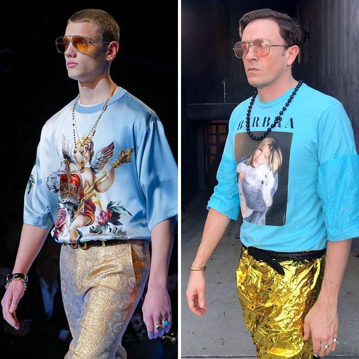 Tom Lenk As Dolce Gabbana Model
