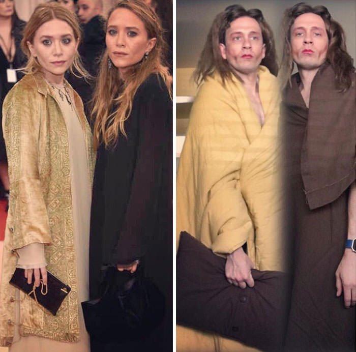 Tom Lenk As Olsen Twins At Met Gala