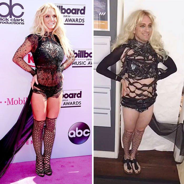 Tom Lenk As Britney Spears At Billboard Music Awards