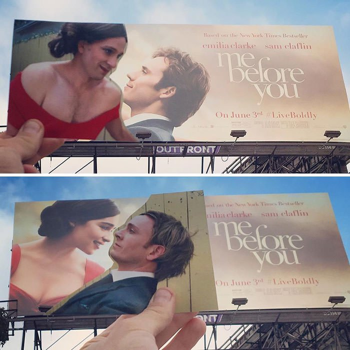 Tom Lenk As Emilia Clarke And Sam Claflin On Me Before You Movie Poster