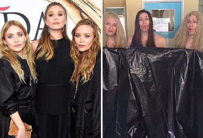 Tom Lenk As Olsen Sisters At Cfda