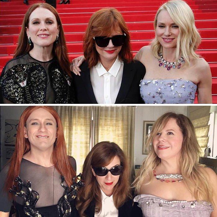 Tom Lenk, Tisha Banker And Kirsten Vangsness As Julianne Moore, Susan Sarandon And Naomi Watts At Cannes