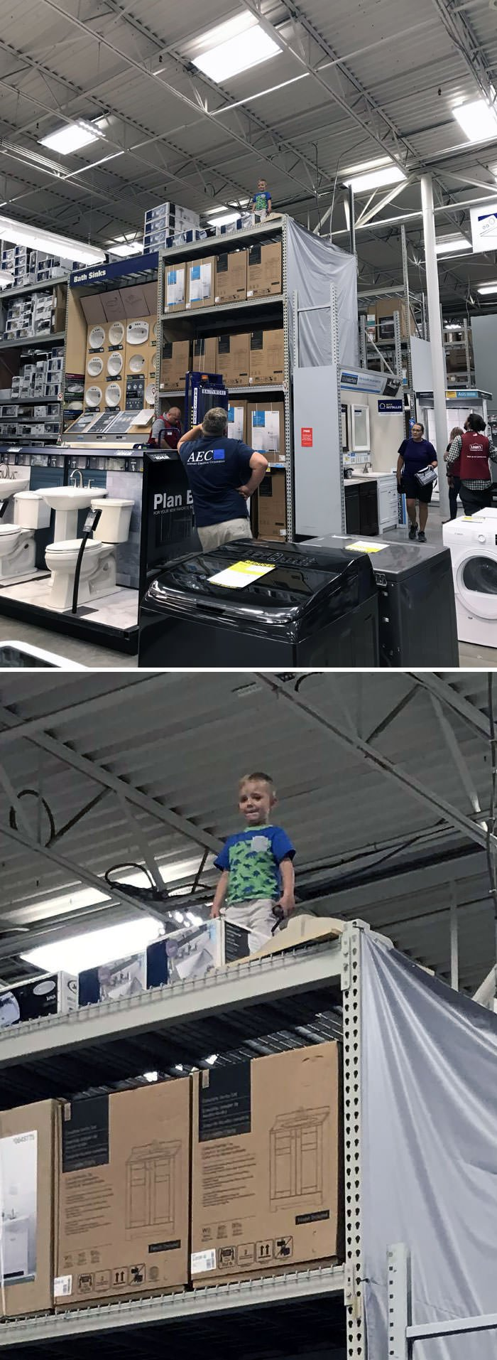 I Heard This Kid Yelling For His Dad At Lowe's, I Went Looking For Him And...
