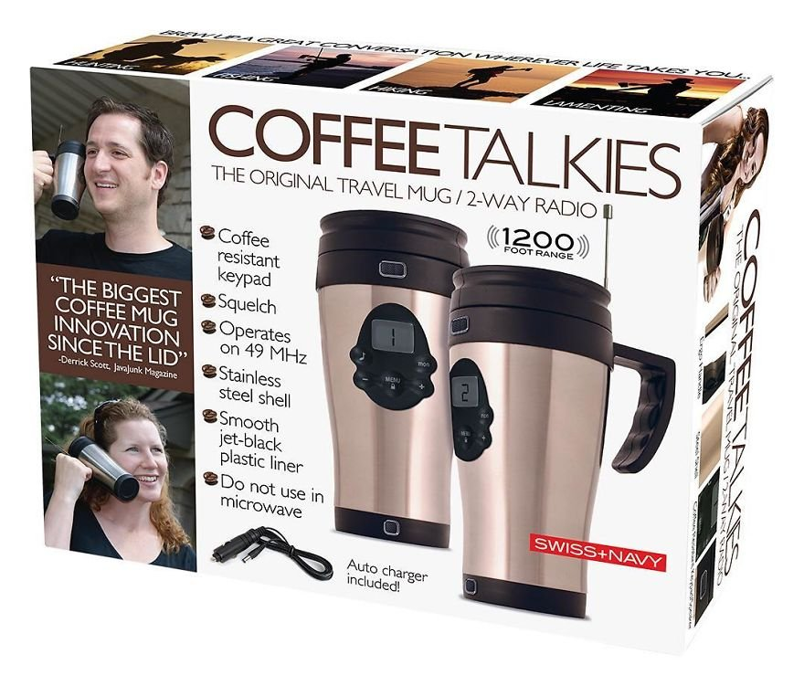 Talk With Your Friends Using A Travel Mug