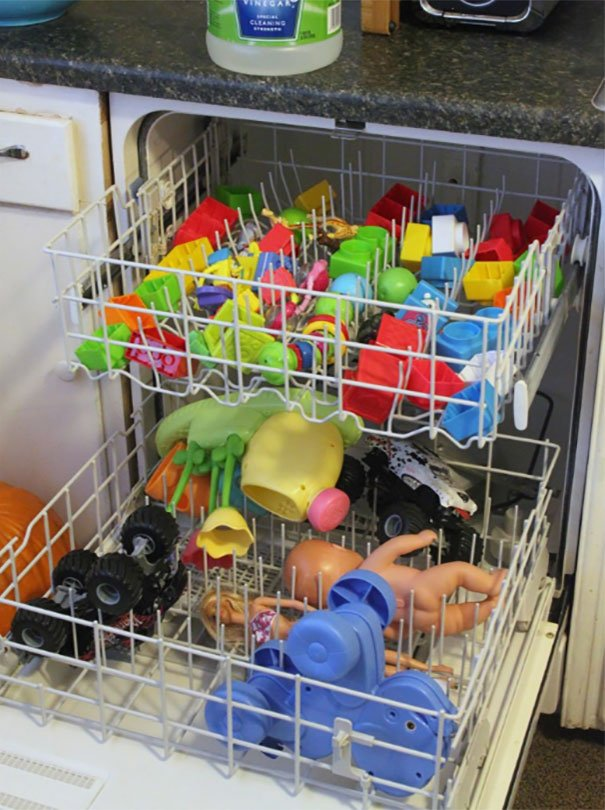 Clean Non-Electronic Plastic Toys In A Dishwasher