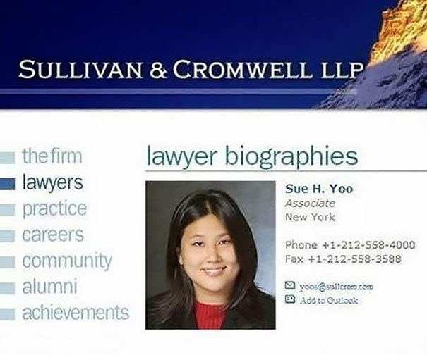 Lawyer Sue Yoo