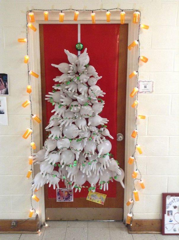 Health Office Christmas Door