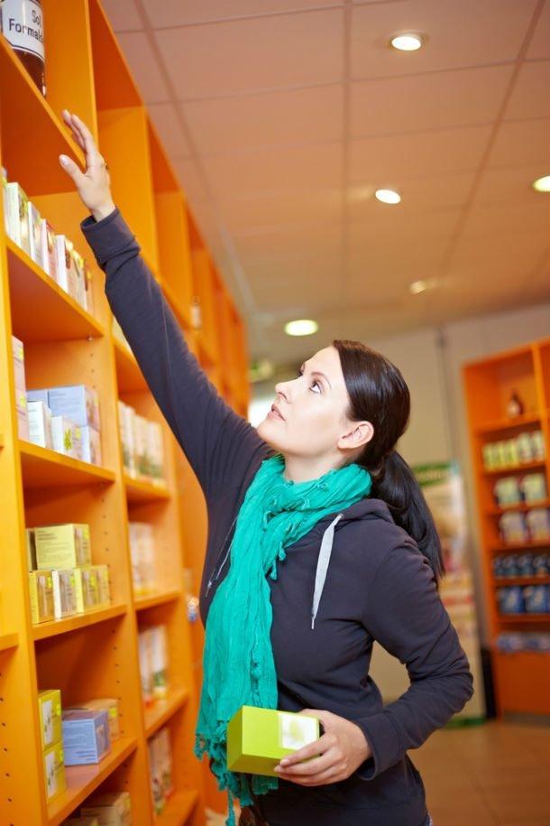 reaching high shelf