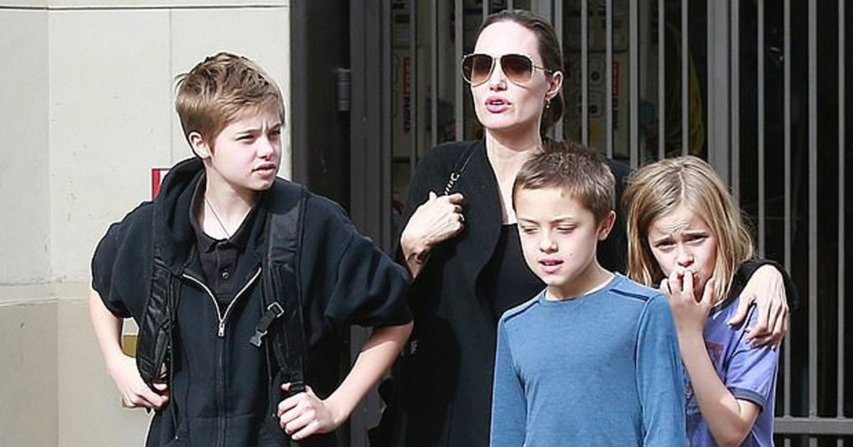 angelina jolie and kids.jpg?resize=1200,630 - Angelina Jolie Steps Out With Kids For Christmas Shopping After Reaching Custody Agreement With Brad Pitt