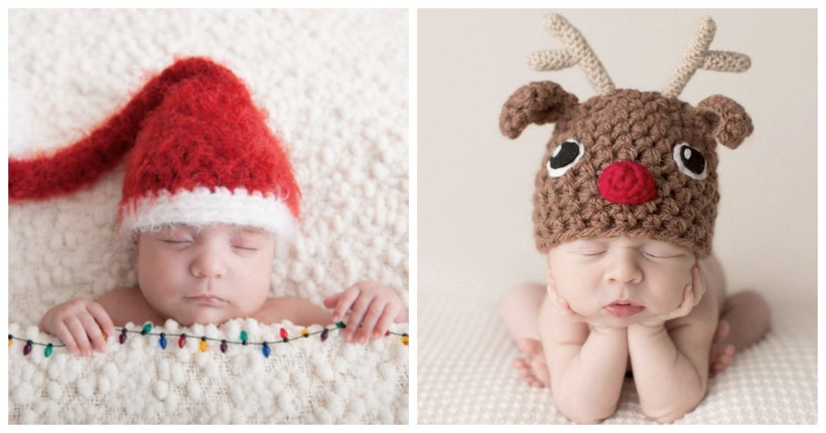 babies.jpg?resize=1200,630 - 17 Babies Who Got Extra Festive For Their First Ever Christmas Photo