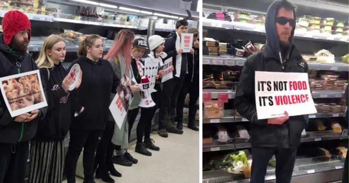 before 2.png?resize=300,169 - Des militants ont protesté contre la viande de dinde dans un magasin et ont empêché les gens d'en acheter