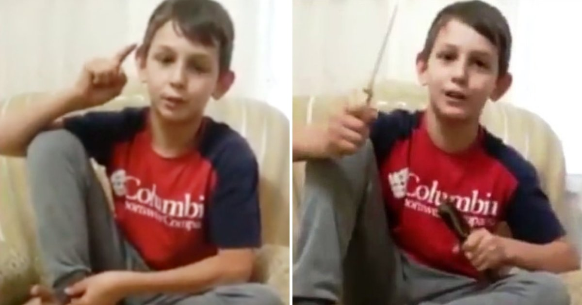 boy3 1.png?resize=412,232 - 11-Year-Old Boy Threatened Enemies In Disturbing Video Before He Was Caught By Police