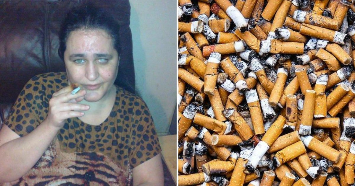 cigbutt2.png?resize=412,232 - 42-Year-Old Mother Eats Used Cigarette BUTTS Every Night And Says She Can't Stop