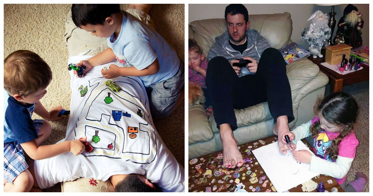 dad.jpg?resize=1200,630 - 16 Dads with Genius Ways of Keeping Their Children Entertained And The Kids Love It