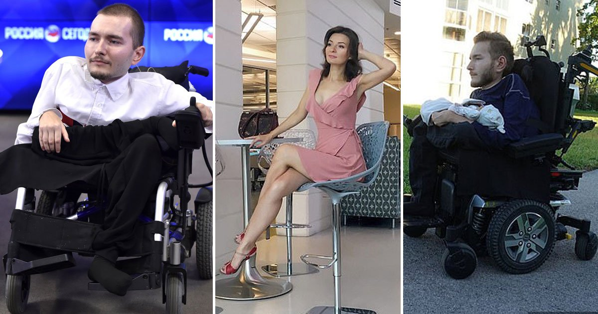 disabled man wife son.jpg?resize=412,275 - Disabled Man Who Volunteered For The World's First Head Transplant Spoke Out About His Life