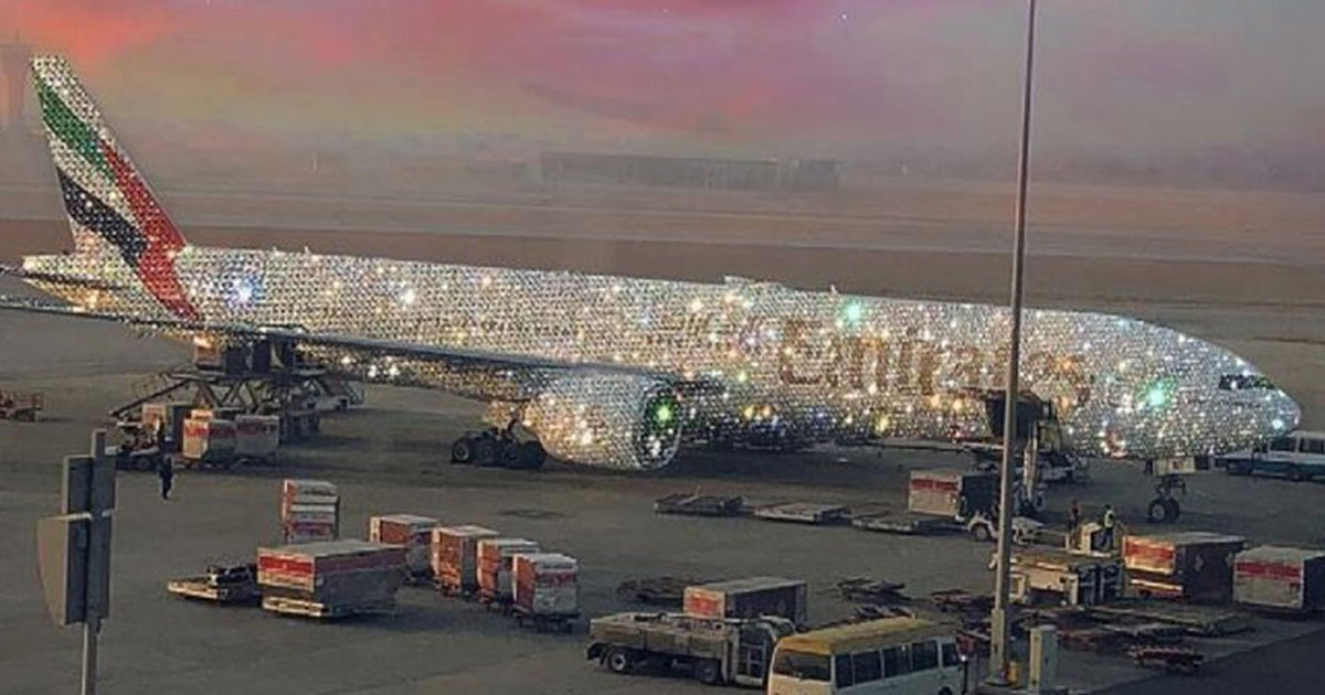 emirates bejewelled aircraft.jpg?resize=412,275 - Emirates Airlines Set The Internet Ablaze With Photo Of 'Diamond Encrusted' Aircraft