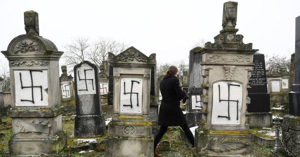 featured image 17.png?resize=412,232 - Vandals Deface 37 Tombstones And A Monument To Holocaust Victims At French Jewish Cemetery