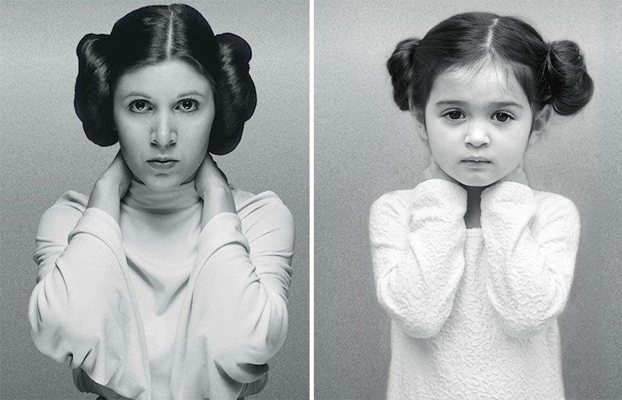 fille photo femme celebres 7.jpg?resize=412,232 - À 3 ans, elle rend hommage aux femmes fortes pour soutenir sa grand-mère atteinte d'un cancer