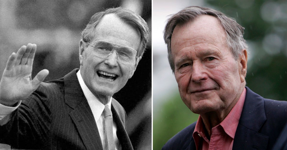 george hw bush.jpg?resize=412,232 - Donald Trump To Send His Presidential Plane To Bring Former President George H.W. Bush's Remains To Washington