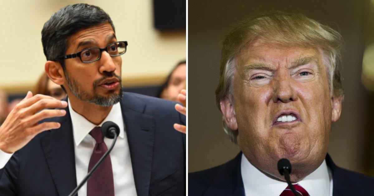 """google5.png?resize=412,232 - Le PDG de Google est obligé d'expliquer pourquoi Donald Trump arrive quand vous recherchez le mot """"idiot"""""""
