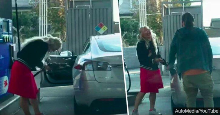 img 5c288f6ae880b.png?resize=412,232 - La vidéo d'une femme essayant de remplir une voiture électrique avec de l'essence devient virale