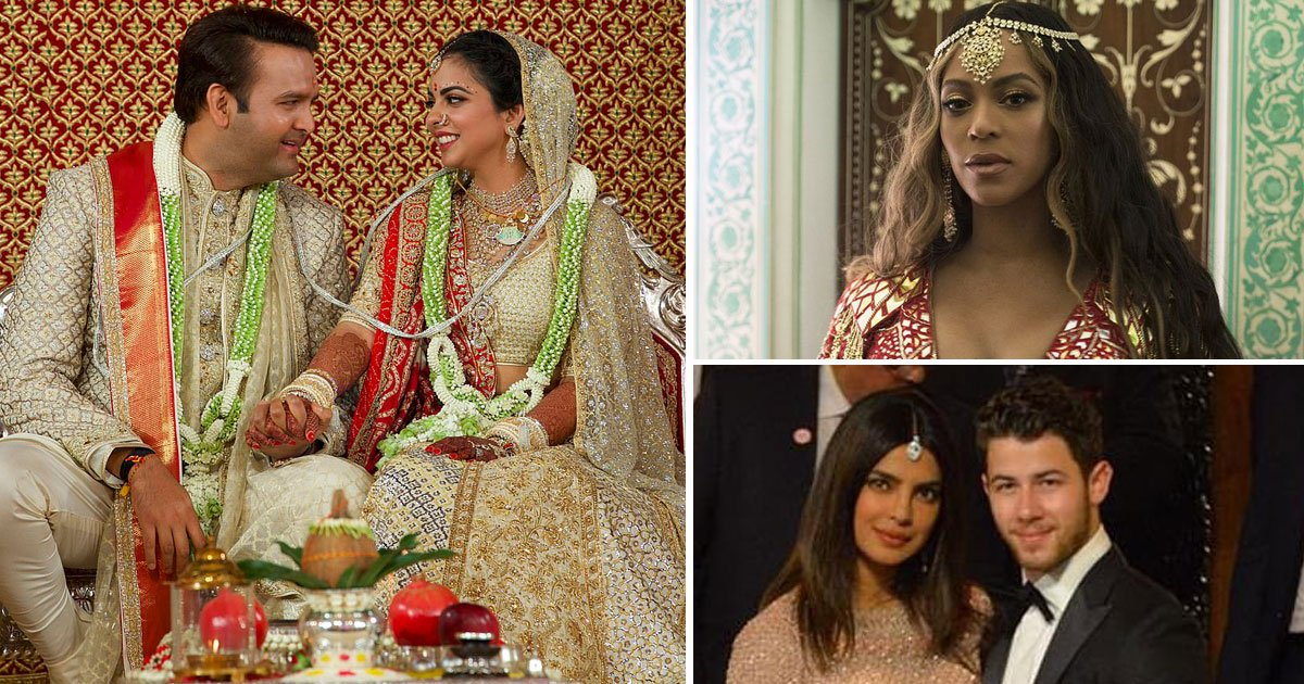 isha ambani wedding beyonce priyanka.jpg?resize=412,232 - Pictures From The Most Lavish Wedding Of India's Richest Man Mukesh Ambani's Daughter