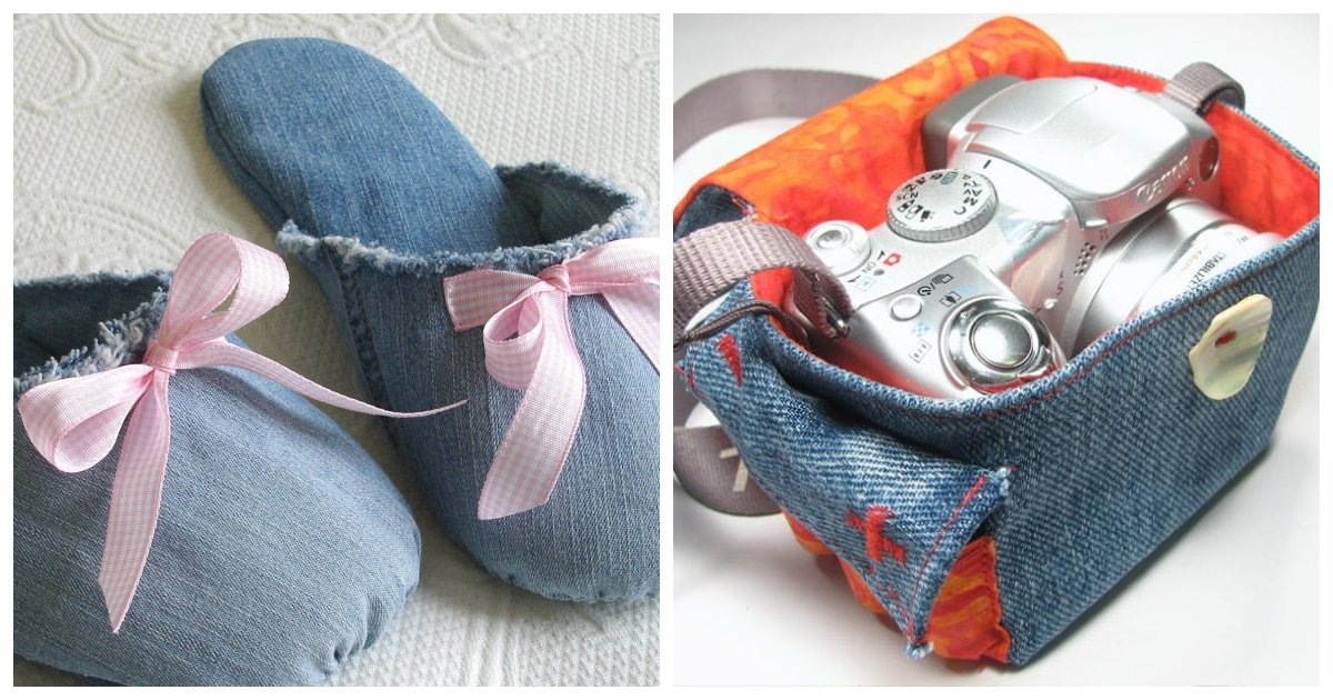 jeans.jpg?resize=1200,630 - Don't Toss Your Old Jeans. Here Are 35+ Fun And Creative Crafts You Do With Them