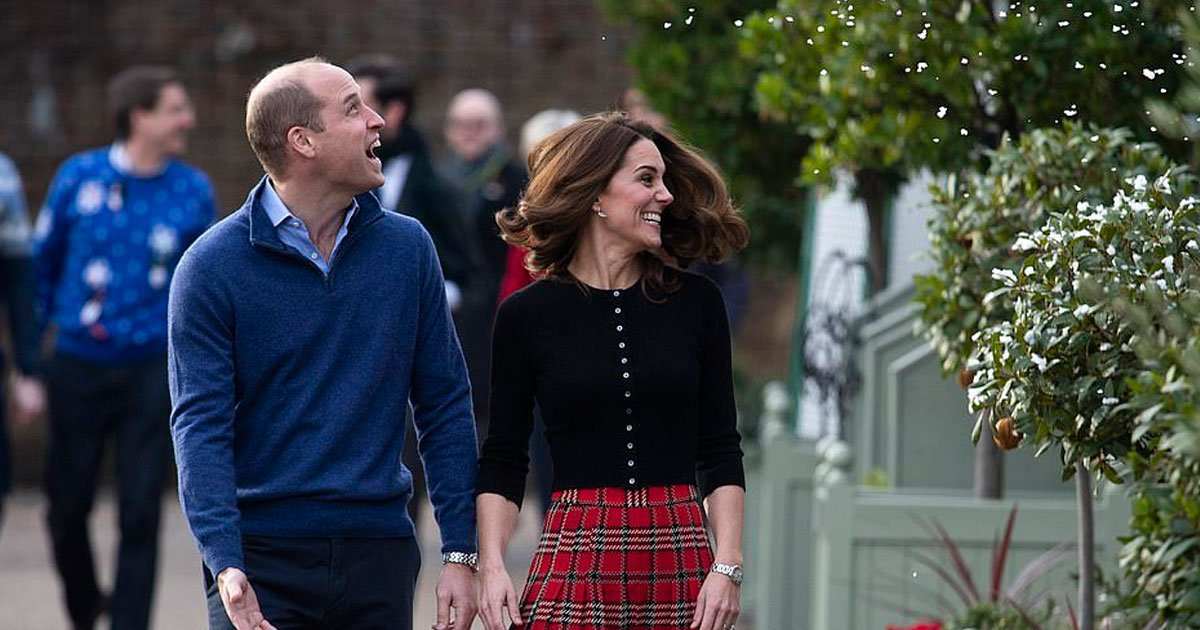 kate william.jpg?resize=412,232 - The Duke And Duchess Of Cambridge Had A Playful Snowball Fight At A Christmas Party At Kensington Palace For Military Families