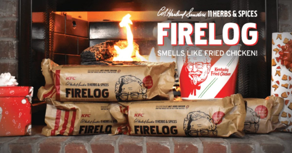 kfc3.png?resize=412,232 - KFC Is Now Selling Fire Logs That Smell Like Fried Chicken Because Why Not
