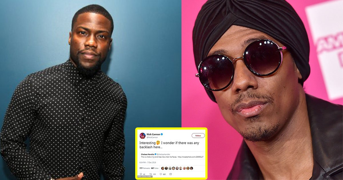nick cannon sparks controversy as he digs up old homophobic tweets from amy schumer and chelsea handler in defence of kevin hart.jpg?resize=412,232 - Nick Cannon Sparked Controversy As He Dug Up Old Homophobic Tweets From Amy Schumer And Chelsea Handler In Defense Of Kevin Hart