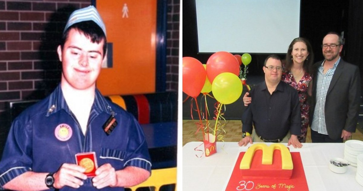 russell6.png?resize=1200,630 - McDonald's Worker With Down Syndrome Celebrated 30 Years With The Big Fast-Food Chain