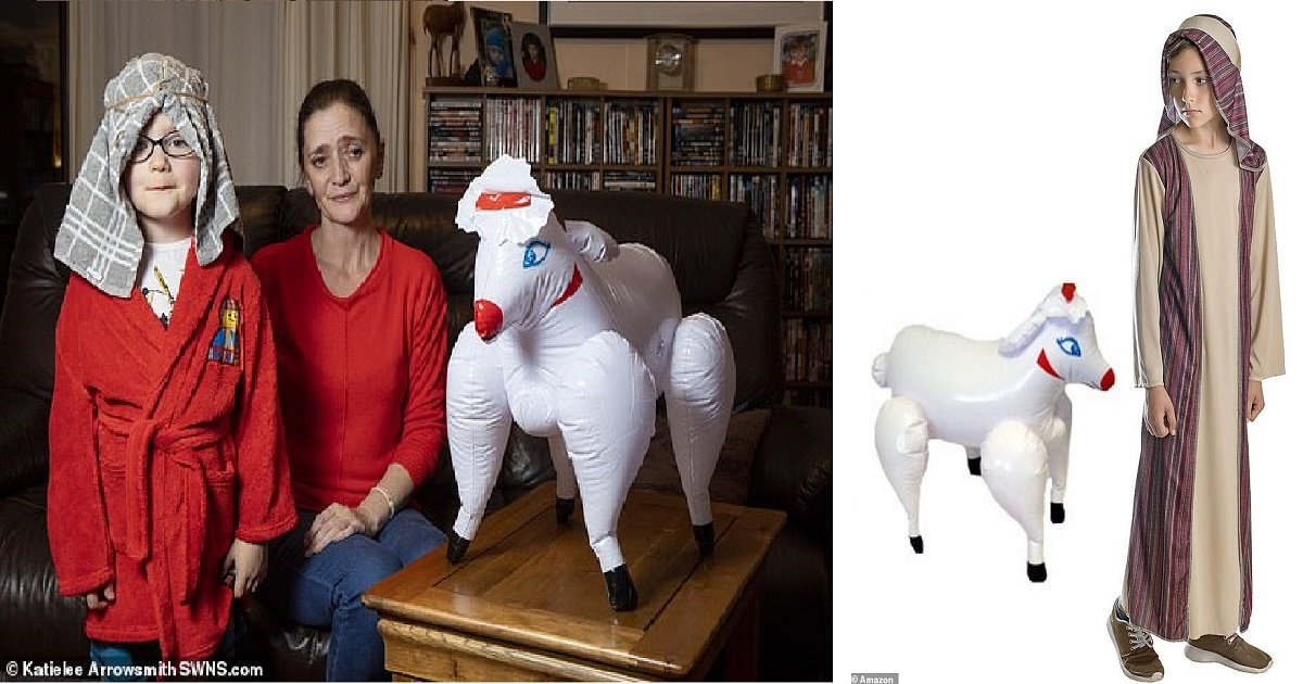 """s3 2.jpg?resize=412,232 - Shocked Mother Discovers That The """"Shepherd"""" Costume She Bought On Sale At Amazon For Her Son's Nativity Play Came With A Blowup Sex Doll"""