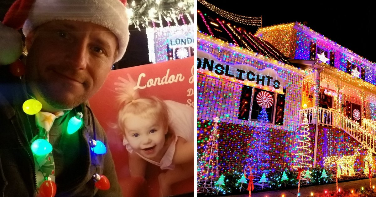 s5.png?resize=412,232 - Man Decorated His house With 300,000 Lights To Pay Tribute To His 21-Month-Old Daughter