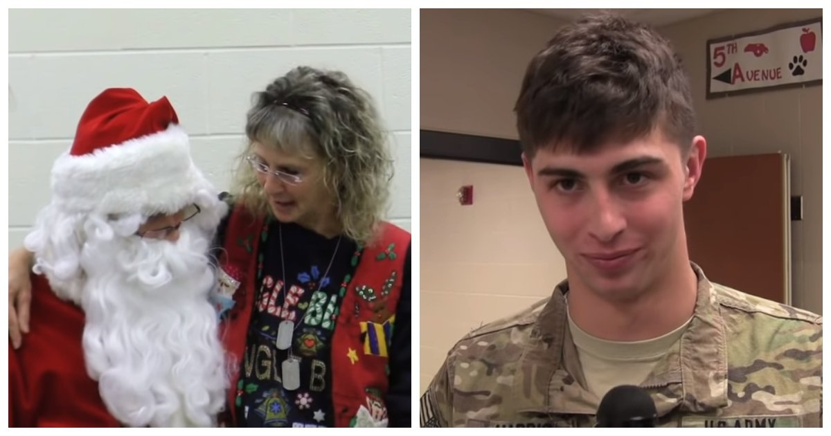 santa 1.jpg?resize=412,232 - Soldier Disguised As Santa Asks Mom What She Wants For Christmas Before Surprising Her In Heartwarming Reunion