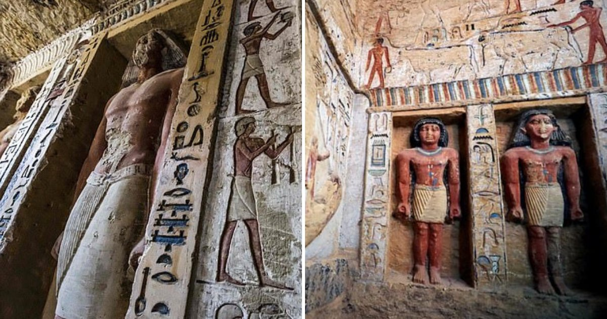 tomb8.png?resize=412,232 - Egypt Discovers 'One Of A Kind' 4,400-Year-Old Tomb Of Ancient High Priest In Pyramid Complex