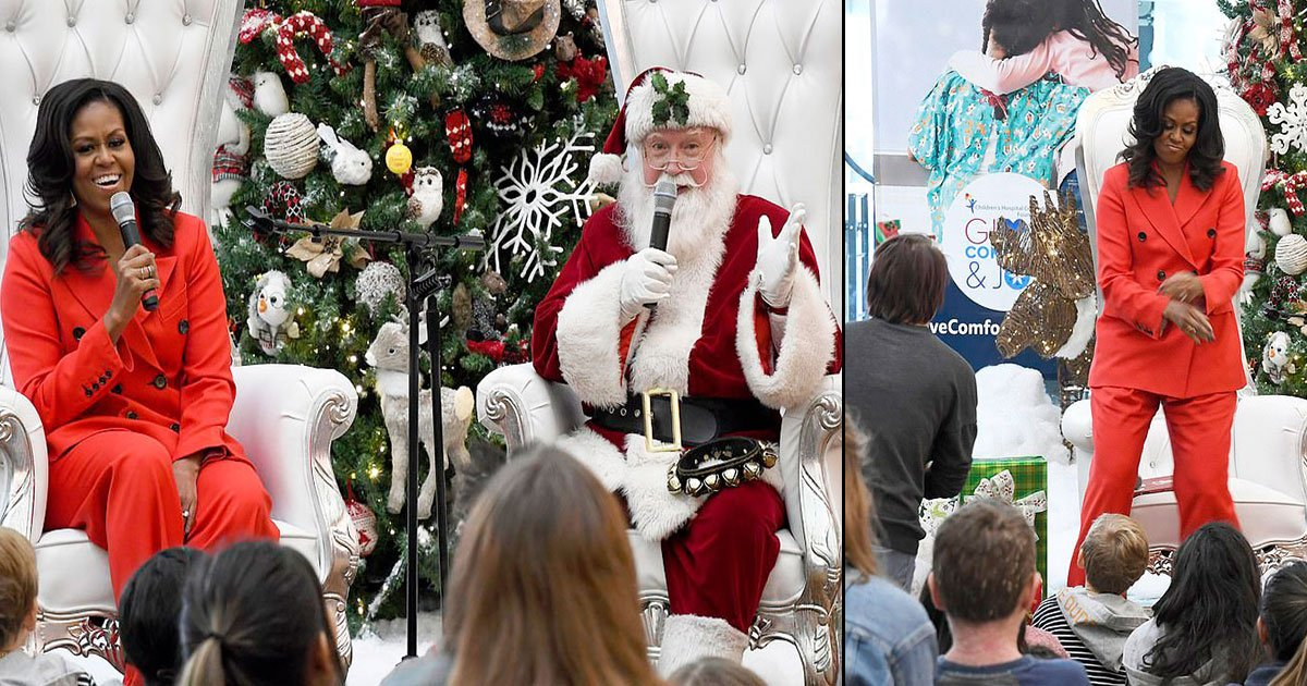 untitled 1 34.jpg?resize=412,232 - Michelle Obama Shakes Her Leg During A Surprise Christmas Visit To A Children's Hospital In Colorado