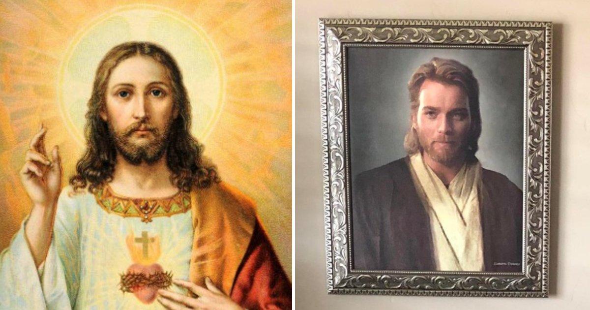 untitled design 44 1.png?resize=1200,630 - Il fait une blague à ses parents religieux en leur achetant un portrait très spécial de Jésus