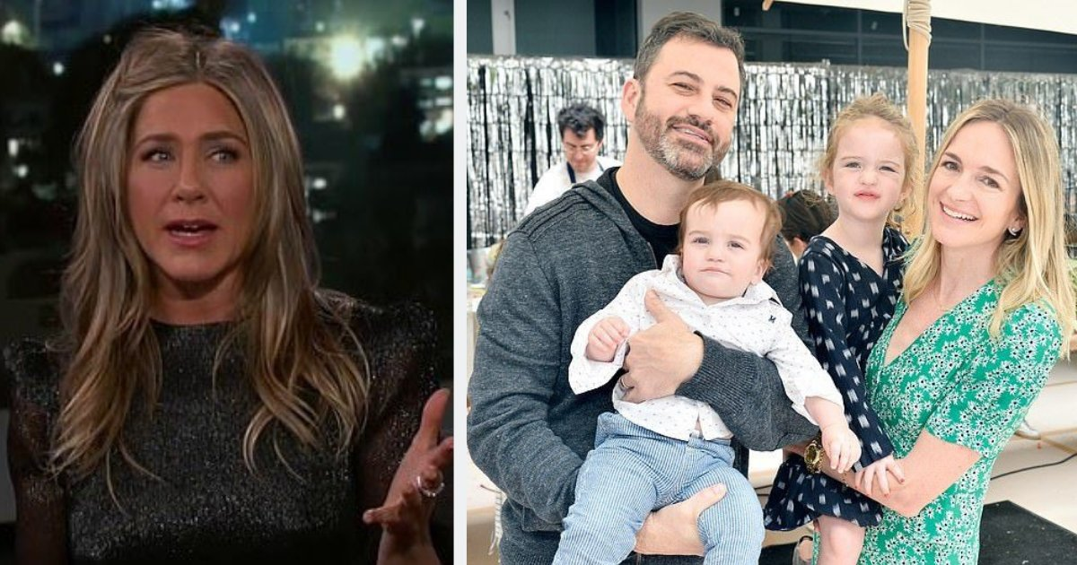 """untitled design 70.png?resize=300,169 - Jennifer Aniston Discloses Jimmy Kimmel's Daughter """"Took a S**t"""" Next to her Beautiful Pool"""