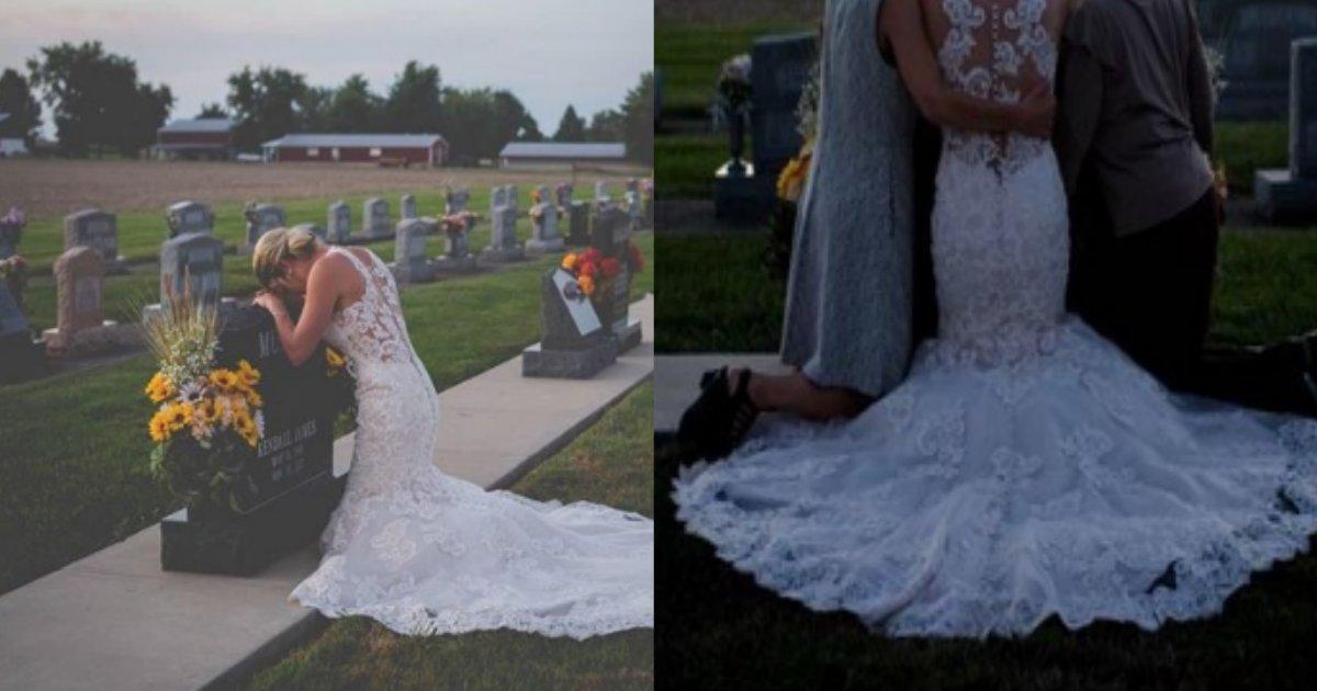 wedding.png?resize=1200,630 - 今も好きです…結婚式当日にウェディングドレスを着て恋人の眠る墓地を訪れた花嫁