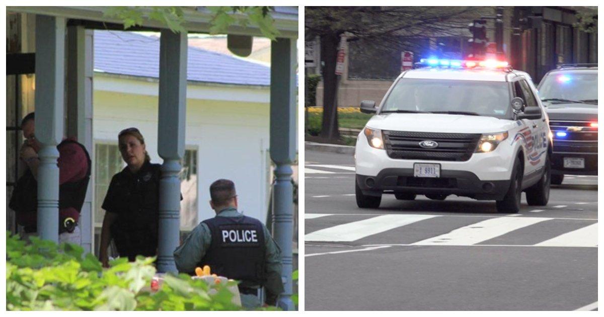 befunky collage cops.jpg?resize=412,232 - La police se précipite à la maison après qu'un père se met à hurler: «Pourquoi ne meurs-tu pas ?!» alors que le bambin gémit de peur