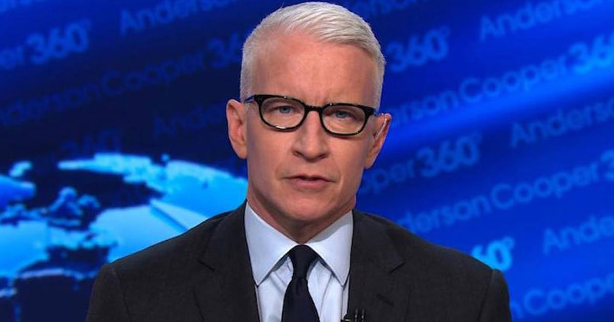 cnn anderson cooper.jpg?resize=412,275 - Drunk Anderson Cooper Said On Air That His Mother Had A 'One Night Date' With Marlon Brando
