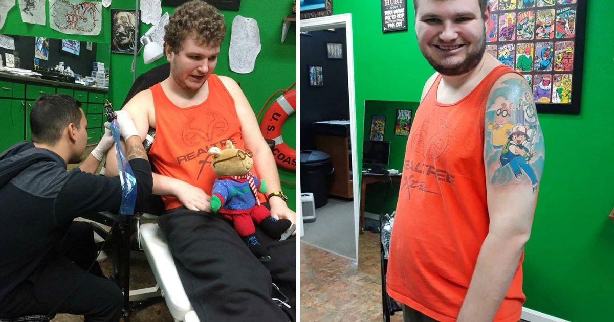 d5 8.png?resize=412,232 - An Autistic Man Finally Gets his Dream Tattoo After He Was Refused At Many Shops