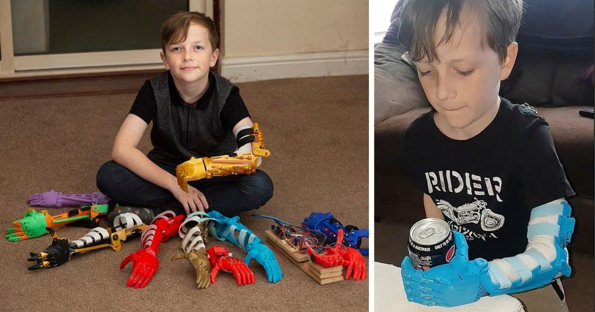 d5.png?resize=1200,630 - Un père construit neuf bras bioniques avec une imprimante 3D pour son fils handicapé