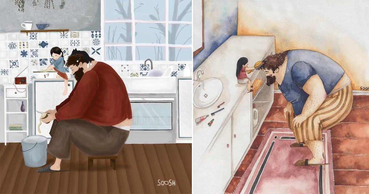dads change.png?resize=300,169 - 11 illustrations qui montrent comment les hommes peuvent changer lorsqu'ils ont une fille